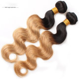 Cabelo humano de venda de Remy das extensões brasileiras por atacado do cabelo do Virgin o melhor