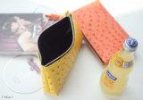 I sacchetti di Cosmtic del cuoio dello struzzo di modo, trucco insacca (CS2289)