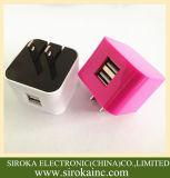Universeel ons die de Lader van de Muur van de Reis van de Lader USB van de Telefoon van de Cel van de Stop USB voor Mobiele Telefoon vouwen