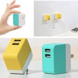 도매 접히는 플러그 이중 USB 무선 이동할 수 있는 플러그 또는 충전기  전력 공급을%s 5V 2A로