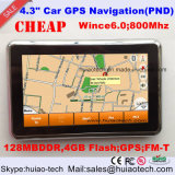 2016 Promotion 4.3inch Navigateur GPS portable voiture avec ISDB-T TV Bluetooth Wince 6.0 OS