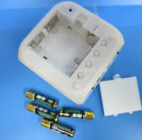 Cube Plastic LCD Relógio Despertador com função de rádio