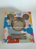 Don en acier inoxydable de la plaque de Fast Food Micky vaisselle Set XG-006