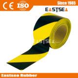 交通安全の黒くおよび黄色の危険の警告テープ