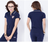 Maglietta di polo del collare delle donne di modo di alta qualità della fabbrica alta