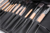 Brosse de lecture professionnelle de renivellement de la face 12PCS avec le sac en cuir noir