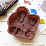 チョコレートカラークッキーの菓子のための小さいシリコーン象型