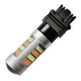 LED Lighting Switchback White + Amber 7743 2835-42SMD DRL + Turn Light Car LED Bulb