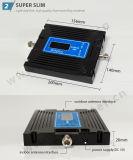 Amplificador móvil dual ajustable de la señal de la venda 2g 3G G/M WCDMA 900MHz 2100MHz del aumento