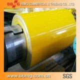 El color galvanizó la hoja de acero en la bobina de acero cubierta color PPGI del material de construcción de las bobinas (PPGI)