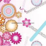 100%Polyester 연필 꽃 Pigment&Disperse는 침구 세트를 위한 직물을 인쇄했다