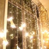 다채로운 옥외 휴일 LED 크리스마스 훈장 3*1m 144LED 커튼 빛