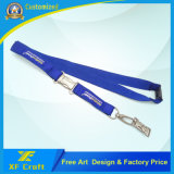 Promocional Custom Wholesale Tela / Militar / Satin / Soft / Impresso / Poliéster / Neck Ribbon Strap (XF-LY10)