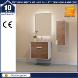 Module en bois de meubles de salle de bains de Melmine d'articles sanitaires avec le miroir de DEL