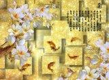 стереоскопическая картина маслом белого цветка вырезуба 3D напечатанная