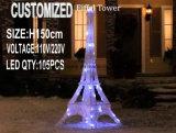 휴일 결혼식을%s 옥외 훈장 LED 에펠 탑 점화 3D 주제 빛