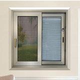 Aluminiumrahmen-ausgeglichenes Glas-horizontales schiebendes Fenster mit Fiberglas-Bildschirm-Ineinander greifen