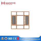 Предложения поставщика Китая Casement Windows золотистого алюминиевый с экраном мухы