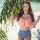 Swimwear aperto caldo della foto della ragazza del bikini del sesso di temperamento delle donne