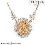 43896方法熱い販売18kの金のジルコニアのマリアの宝石類のネックレス
