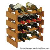 Het houten Rek van de Wijn van de Stapel voor het Rek van de Opslag van het Rek van de Vertoning van de Wijn