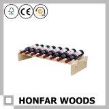 6本のびんのセリウムの証明の木製のワインラックワインのホールダー