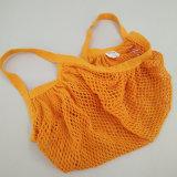 Sacchetto organico dei prodotti della maglia di acquisto della rete del cotone dei 2 pacchetti con il contrassegno