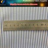 ¡Bienes inmediatos! Tela de poliéster T400 Tejido teñido de tela de franja con Wicking para la camisa