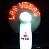 Mini ventilateurs de vente chauds de message de DEL avec le logo estampés (3509)