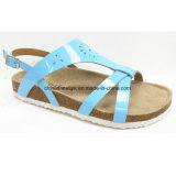 China New Woman Fashion Sandals Soft Wood Sole