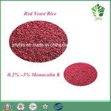 0.2%~5% Polvo Rojo del Arroz del Pigmento de Monacolin K Monascus/de la Levadura de Funtion