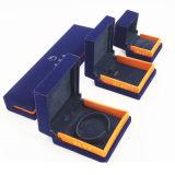 Soem-ODM kundenspezifischer Veloursleder-Ring-Armband-Schmucksache-Kasten (J51-E2)