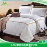3 PCSの綿の白い寝具は寮部屋のためにセットした