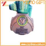Pièce de monnaie de forme ronde des lanières 60mm de sport d'émail de la coutume 3D/médaille molles (YB-HD-97)