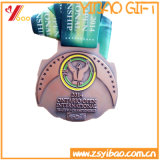 Монетка круглой формы талрепов 60mm спорта эмали таможни 3D мягкие/медаль (YB-HD-97)