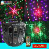 Светодиод Дерби диско лазерного света в форме бабочки Группа освещения с помощью пульта дистанционного управления