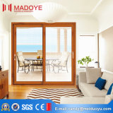 Wood Grain Aluminum Sliding DOOR with Blinds