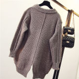 Mulheres Batwing Sleeve Poncho Knit Loose Sweater Coat