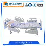 Bett-manuelles Bett des Krankenhaus-2-Crank mit ABS seitlicher Schiene