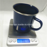 Conjunto azul de la taza de té de los utensilios de cocina de la taza de café del Enamelware del punto