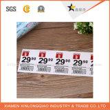 Etiqueta de la impresión personalizada Raised Compañía Naranja paño tejido de prendas de vestir de etiqueta