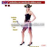 Il partito di carnevale di Halloween Costumes l'agente sexy di Yiwu del corsetto (C5091)