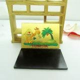 De aangepaste Magneet van de Koelkast van de Herinnering van de Folie van het Metaal van Tunesië voor Verkoop
