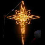 休日の通りの装飾のためのLEDポーランド人の星のクリスマスの装飾ライト