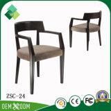 レストラン(ZSC-24)のための新しいデザインホテルの家具の純木の肘掛け椅子