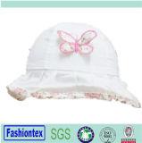 Mädchen gedruckte Baumwollsommer-Wannen-Schutzkappe