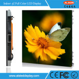 HD P2 farbenreiche dünne Schrank LED-Innenbildschirmanzeige für das Bekanntmachen des Fernsehsenders