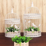 Jaula de pájaro hecho a mano de hierro para la decoración al aire libre