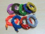 Câble tressé de chargeur du nylon intense USB de 8 bornes pour la longueur de l'iPhone 1m/2m/3m