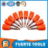 ferramentas de trituração do nariz da esfera 2flutes redonda para a estaca de aço da velocidade